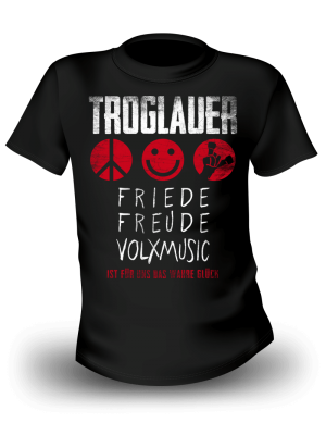 "T-Shirt ""Friede Freude Volxmusic"""