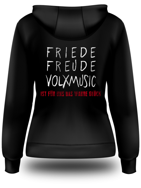 "Sweatjacke ""Friede Freude Volxmusic"""